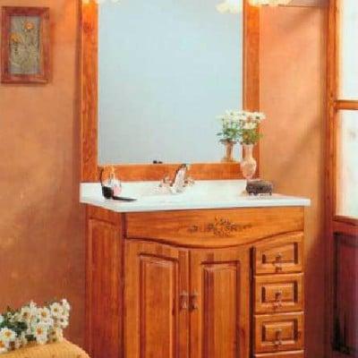 Mueble baño rustico madera con encimera - Zaragoza (Zaragoza ...