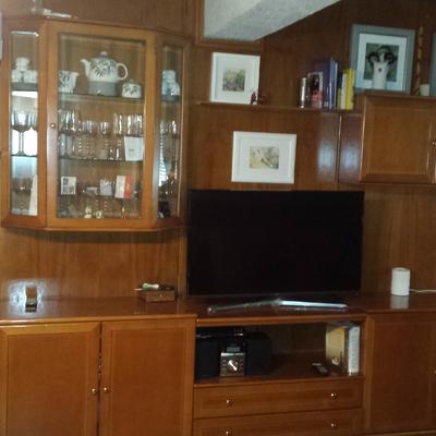 Lacar En Blanco Mueble Mural De Salon Aleche Cuatro