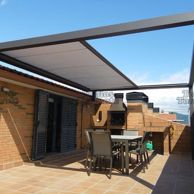 Instalaci n de p rgola en terraza urbana vigo - Toldos en pontevedra ...