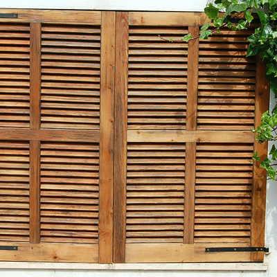 Persiana mallorquina de madera doble hoja 80x100cm - Mallorquinas de madera ...