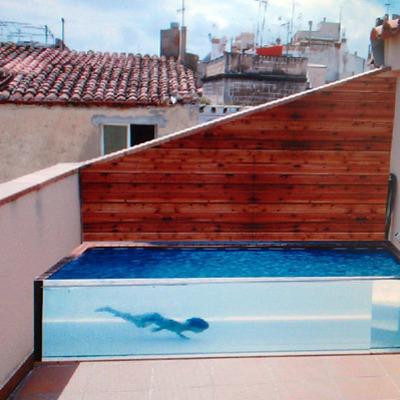 Construir piscina acero y cristal madrid barajas meco for Piscina barajas