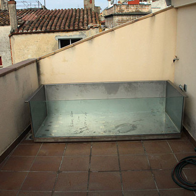 Piscina para terraza acero inox o galvanizado terrassa for Piscinas de acero galvanizado