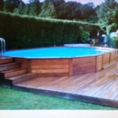 Quiero poner una piscina desmontable imitacion madera en for Base para piscina desmontable