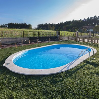 Construcci n de piscina de acero enterrable palma de for Piscinas de acero galvanizado