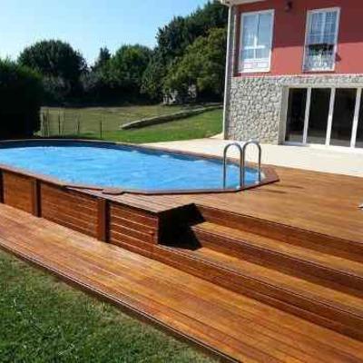 Proyecto piscina elevada sin obra y con estructura de for Estructura para piscina