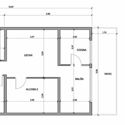 Reforma vivienda con una sola habitacion y vestidor y for Plano habitacion online