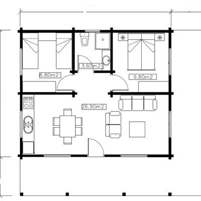 Construir casa gauc n m laga habitissimo for Realizar planos de casas gratis