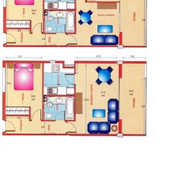 plano Casa vacanza con obra OPCION 3_399579