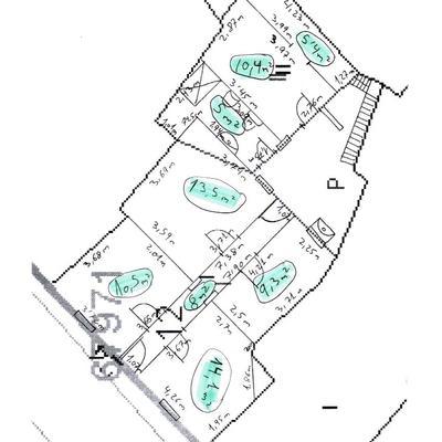 Plano Casero Casa con medidas_361587