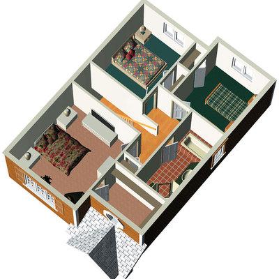 Construccion y proyecto de casa de madera con fachada de - Canexel precio m2 ...