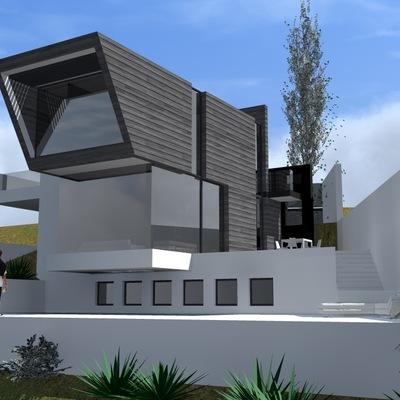 Chalet moderno en pendiente torrox m laga habitissimo for Proyecto chalet moderno