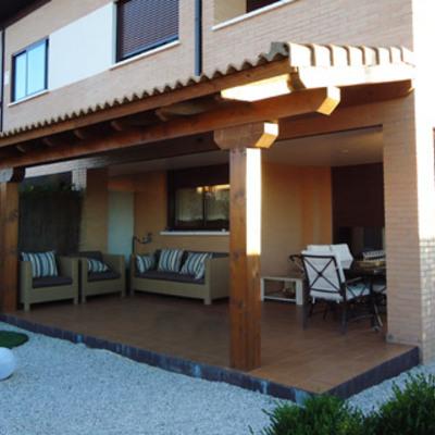 Porche madera 4x4 con techo teja yuncos toledo - Madera para porches ...