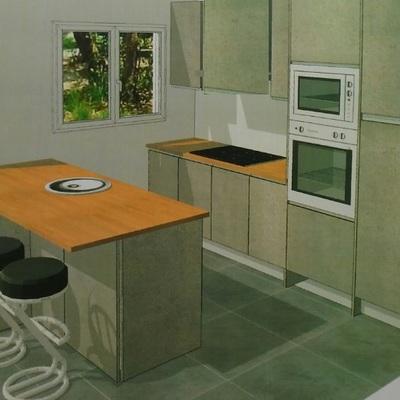 Mueble de cocina y encimera playa heliopolis benicasim - Muebles de cocina castellon ...