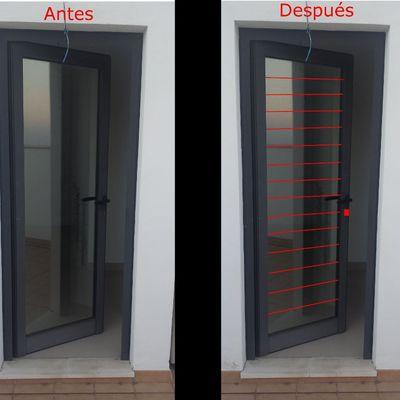 Cerramiento a adir rejas de seguridad para puerta y ventana de aluminio santa cruz centro - Rejas de aluminio ...