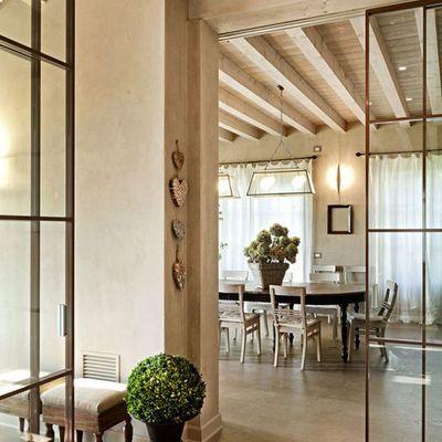 Puertas correderas hierro y vidrio separaci n cocina y - Puertas correderas de cristal y madera ...