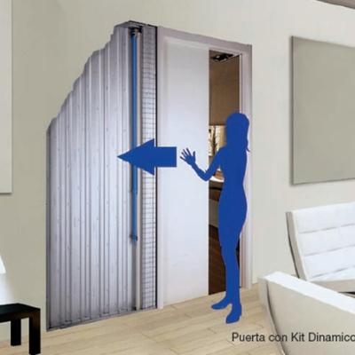 Puerta corredera incrustada en pasillo madrid madrid for Instalar puerta corredera cristal