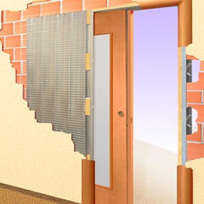 Convertir una puerta de habitaci n abatible en puerta - Como instalar una puerta corredera ...