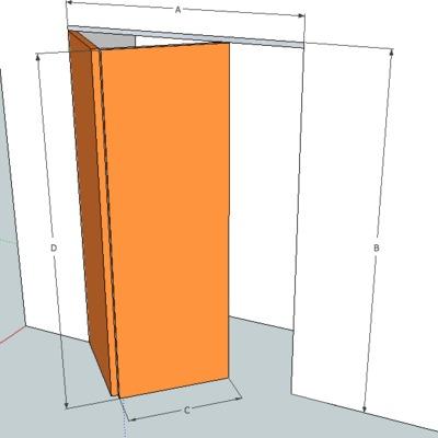 Poner puerta plegable en armario empotrado patraix for Convertir puerta normal en corredera