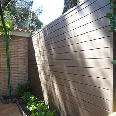 Reforma de patio 40 metros cuadrados la losa segovia - Revestimiento paredes exterior ...