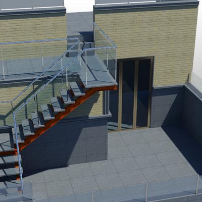 Construcci n de una escalera met lica exterior para - Escalera metalica exterior ...