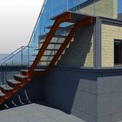 Escalera metalica exterior escalera metlica exterior de un edificio escalera recta metlica de - Escalera de caracol exterior ...