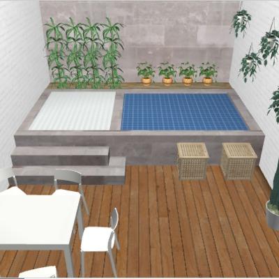 Mini piscina para terraza poble sec barcelona for Piscinas para terrazas