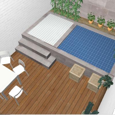 Mini piscina para terraza poble sec barcelona for Como hacer una alberca con tarimas
