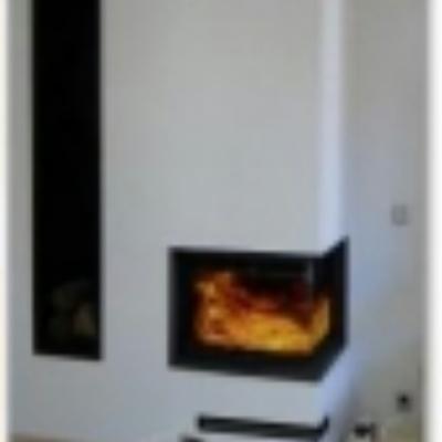 Instalaci n de chimenea esquina de le a insert derio for Instalar insert chimenea existente