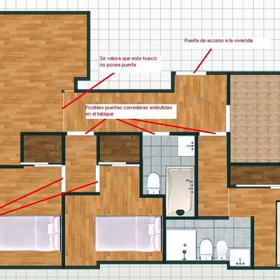 Convertir un piso de 2 habitaciones en uno de 3 madrid madrid habitissimo - Pisos de 2 habitaciones en madrid particulares ...
