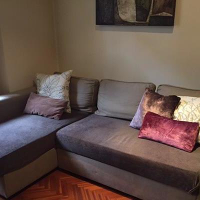 Fundas para sofá 2 plazas con chaise longue + los 3 cojines de