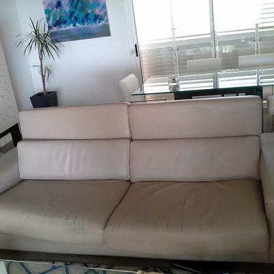 Tapizar un sofa de piel en piel ecopiel o skay gris - Presupuesto tapizar sofa ...