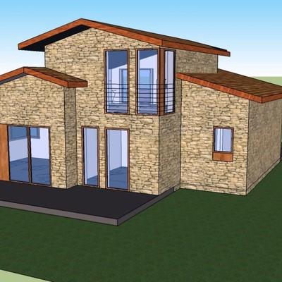 Construir casa 103 m2 en dos plantas monforte de lemos for Construir casa precio m2