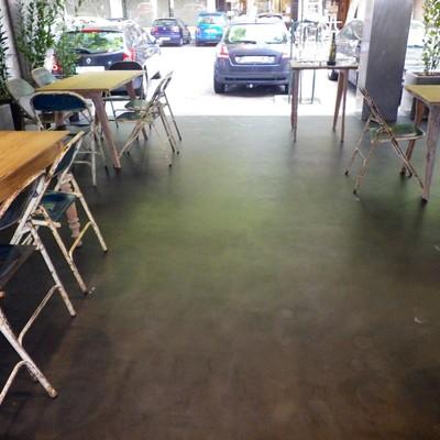 Suelo de microcemento suelo de cemento pulido barcelona for Cemento inyectado suelo