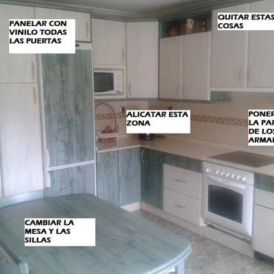 Forrar con vinilo armarios de cocina - Urduliz (Vizcaya) | Habitissimo