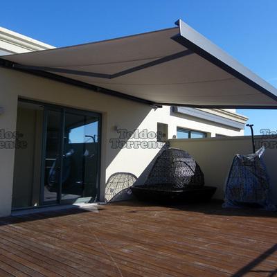Instalar toldo en terraza sencelles illes balears for Reparar brazo articulado de toldo