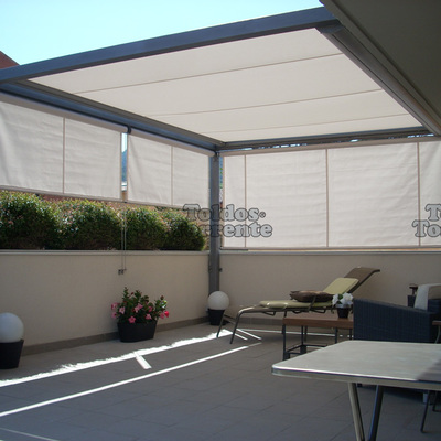 Instalar toldo pergola en terraza atico almassora - Toldos de tela para terrazas ...