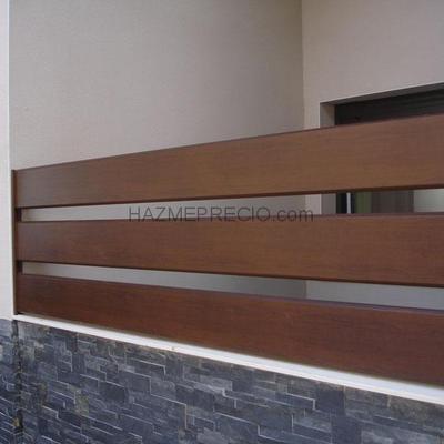 Cierre aluminio imitacion madera l minas nar n a for Cierres de aluminio para terrazas