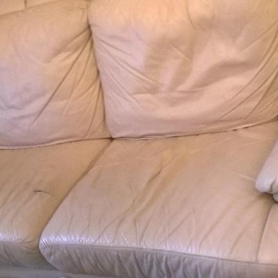 Tapizado sofa piel 3 plazas solo zona asiento y cambiar - Tapizar sofa de piel ...