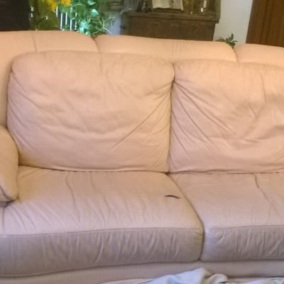 Tapizado sofa piel 3 plazas solo zona asiento y cambiar - Tapizar un sofa de piel ...