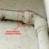 Posible taponamiento de la tubería bajante del tejado