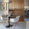 Celosía madera separador ambientes