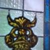 Ventana rectangular  a medida con vidriera estilo iglesia