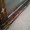 Lijado y barnizado ventanales madera