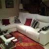 Tapizar en piel natural blanca un sofa cheslonge