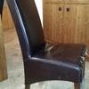 Tapizar 6 sillas de cuero de