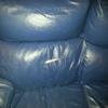 Tapizado sofas cuero azul