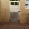 Cambio de puerta de hierro por una  de aluminio