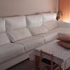 Tapizar sofá tres módulos más chaise longe en tela
