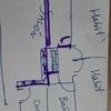 Tirar mueble de pladur , hacer una puerta de obra y una con puerta de madera , hacer una pared de suelo a techo de 2,50 cm alto