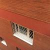 Reja metálica blanca para ventana en barcelona